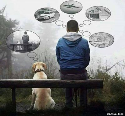 Your dog might be only part of your life, for him, you are his everything. 9GAG.fi