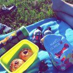 Pikku piknikilläkin käytiin jokirannassa ihanassa auringossa😊